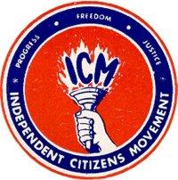 Logo: Unabhängige Bürgerbewegung der (Amerikanischen) Jungfern-Inseln