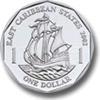 Münze: 1 Ostkaribischer Dollar (Rückseite)