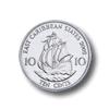 Münze: 10 Cent des Ostkaribischen Dollars (Rückseite)