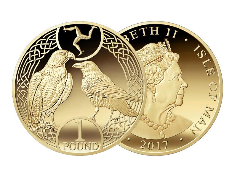 """Münze: 1 """"Manx-Pfund"""""""