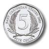 Münze: 5 Cent des Ostkaribischen Dollars (Rückseite)