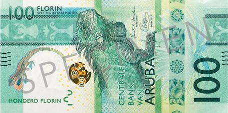 Banknote: 100 Aruba-Florin (Vorderseite)