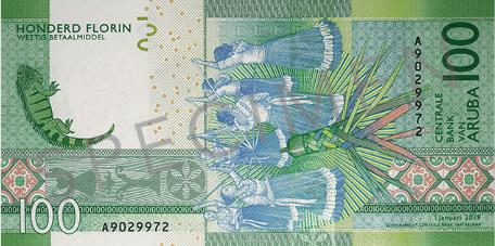 Banknote: 100 Aruba-Florin (Rückseite)