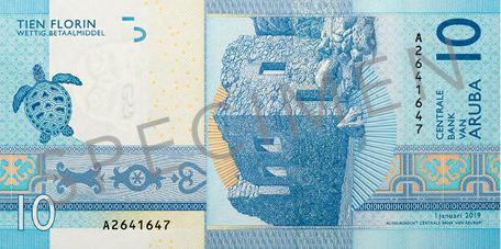 Banknote: 10 Aruba-Florin (Rückseite)
