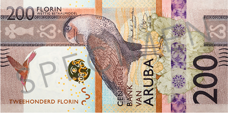 Banknote: 200 Aruba-Florin (Vorderseite)