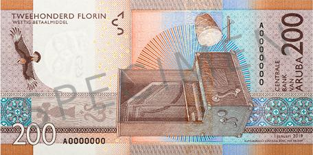 Banknote: 200 Aruba-Florin (Rückseite)