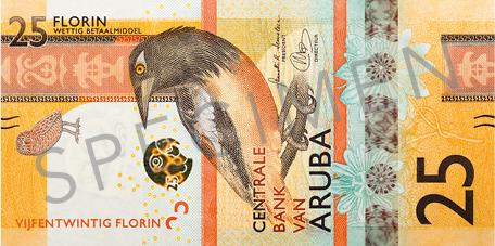 Banknote: 25 Aruba-Florin (Vorderseite)