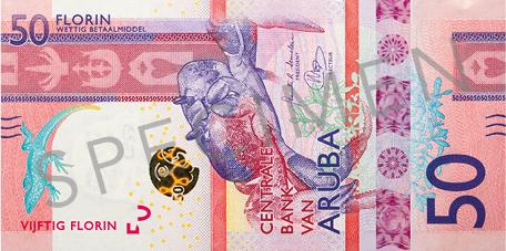Banknote: 50 Aruba-Florin (Vorderseite)