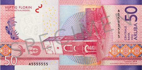 Banknote: 50 Aruba-Florin (Rückseite)