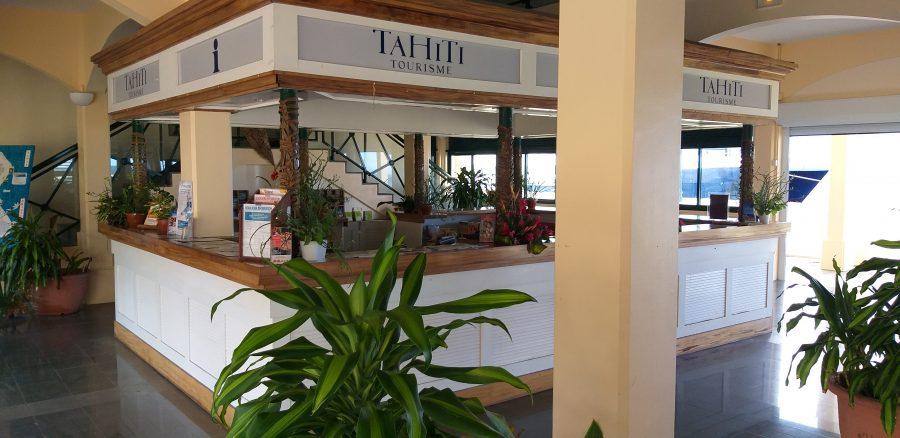 Bild: Touristeninformationsbüro von Tahiti (Hafen von Uturoa auf Raiatea)