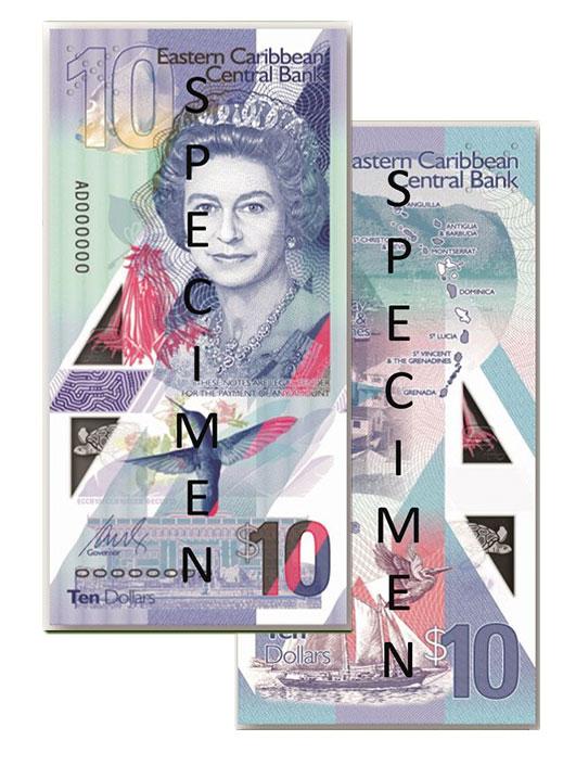 Banknote: 10 Ostkaribische Dollar