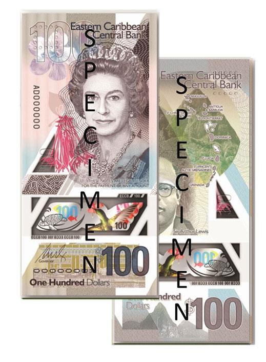 Banknote: 100 Ostkaribische Dollar