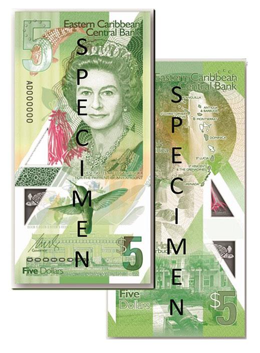 Banknote: 5 Ostkaribische Dollar