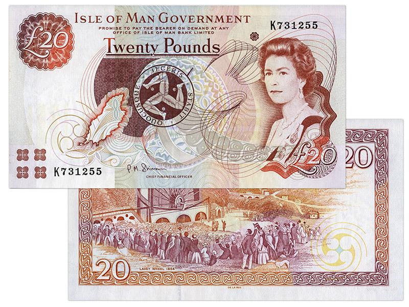 """Banknote: 20 """"Manx-Pfund"""""""