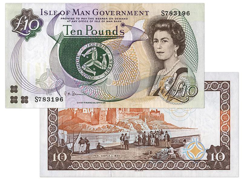 """Banknote: 10 """"Manx-Pfund"""""""