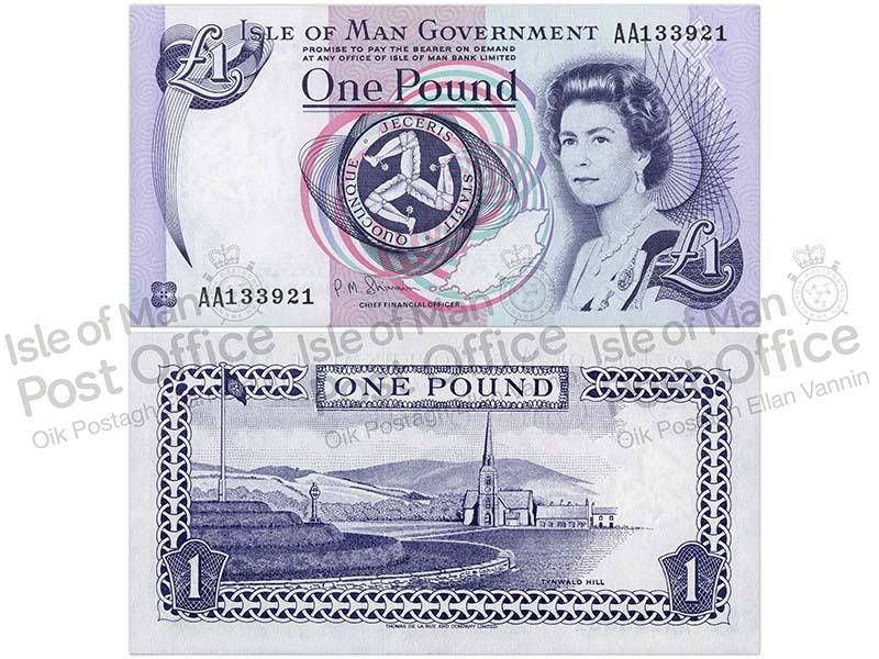 """Banknote: 1 """"Manx-Pfund"""""""