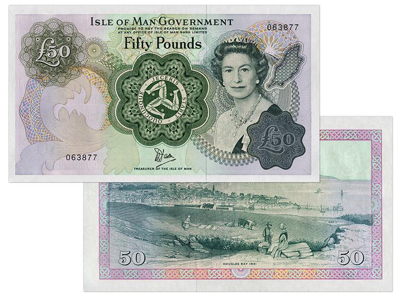 """Banknote: 50 """"Manx-Pfund"""""""