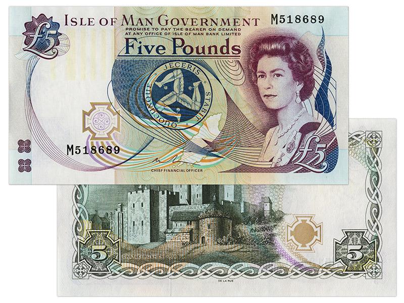 """Banknote: 5 """"Manx-Pfund"""""""