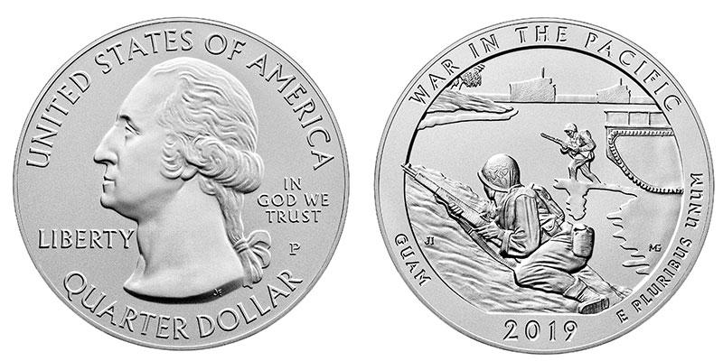 Münze: Viertel-US-Dollar mit Motiven von Guam 2019