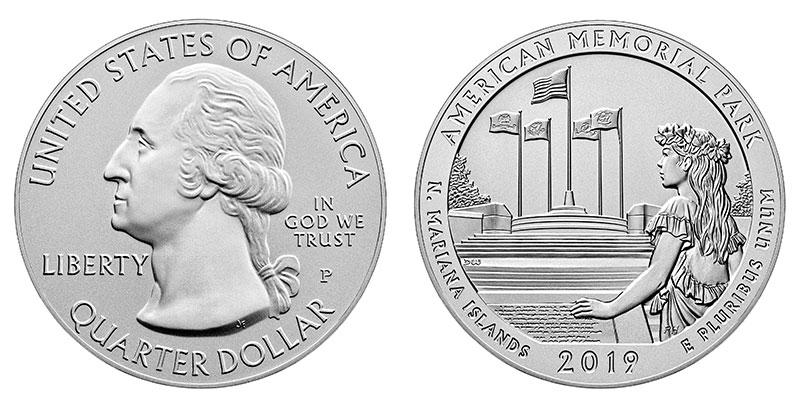Münze: Viertel-US-Dollar mit Motiven der Nördlichen Marianen 2019