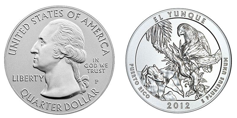 Münze: Viertel-US-Dollar mit Motiven von Puerto Rico 2012