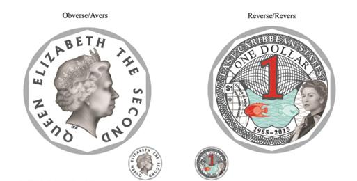 Münze: farbischer 1 Ostkaribischer Dollar