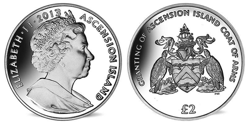 """Münze: 2 """"Ascension-Pfund"""" 2013 (exemplarisch)"""