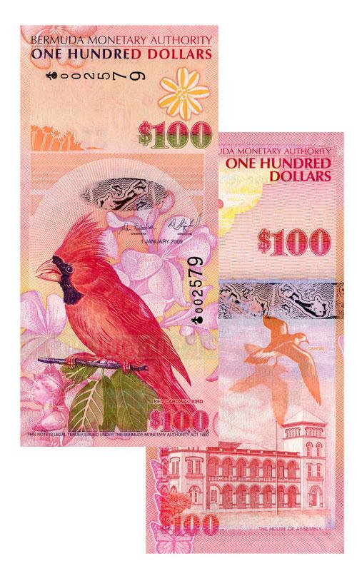 Banknote: 100 Bermuda-Dollar