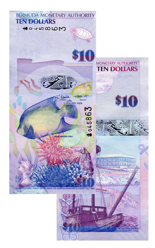 Banknote: 10 Bermuda-Dollar