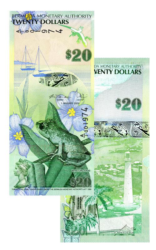 Banknote: 20 Bermuda-Dollar