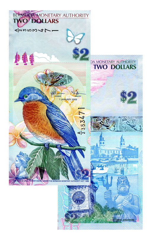 Banknote: 2 Bermuda-Dollar