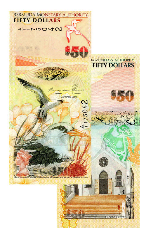 Banknote: 50 Bermuda-Dollar