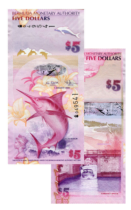 Banknote: 5 Bermuda-Dollar
