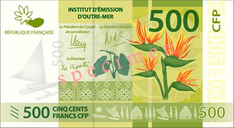 Banknote: 500 CFP-Francs (Vorderseite)