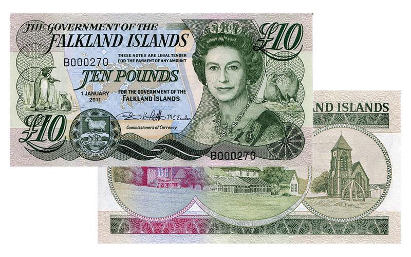 Banknote: 10 Falkland-Pfund