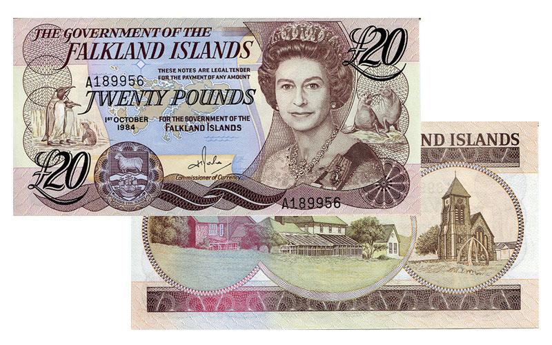 Banknote: 20 Falkland-Pfund