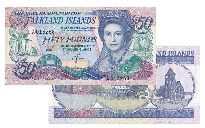 Banknote: 50 Falkland-Pfund