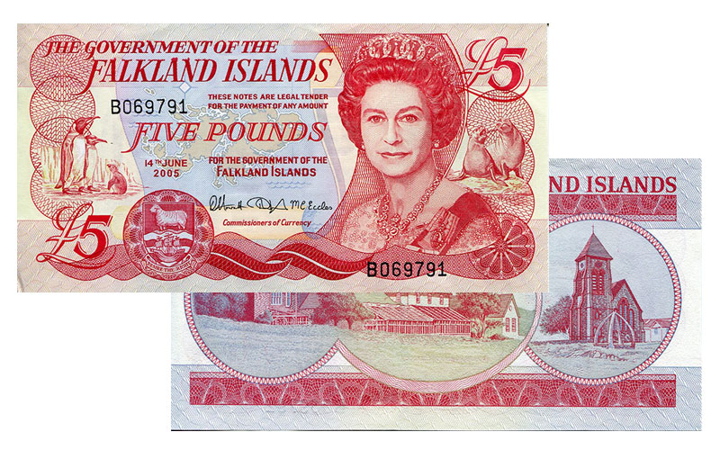 Banknote: 5 Falkland-Pfund