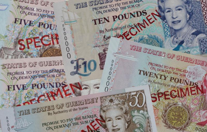 """Banknoten: """"Guernsey-Pfund"""""""