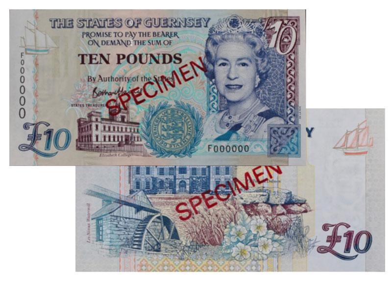 """Banknote: 10 """"Guernsey-Pfund"""""""