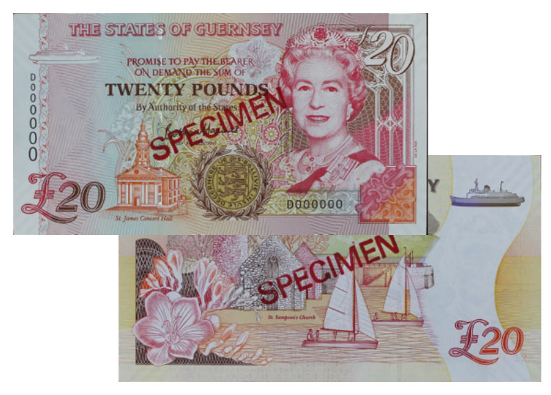 """Banknote: 20 """"Guernsey-Pfund"""""""