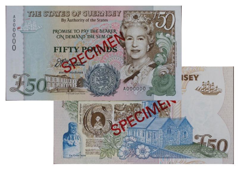 """Banknote: 50 """"Guernsey-Pfund"""""""