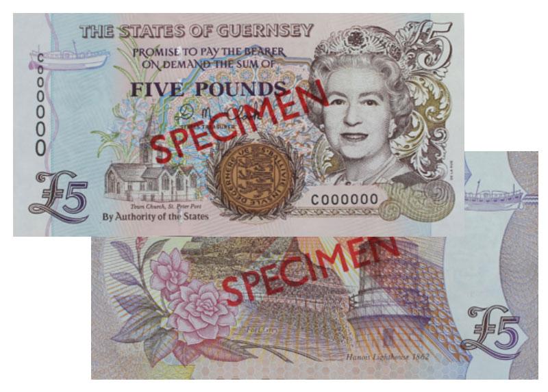 """Banknote: 5 """"Guernsey-Pfund"""""""