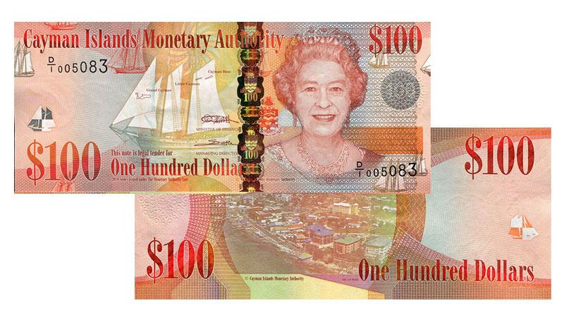 Banknote: 100 Cayman-Dollar bzw. Kaiman-Dollar