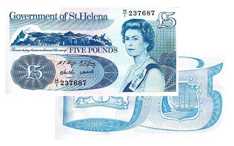 Banknote: 5 Sankt Helena-Pfund