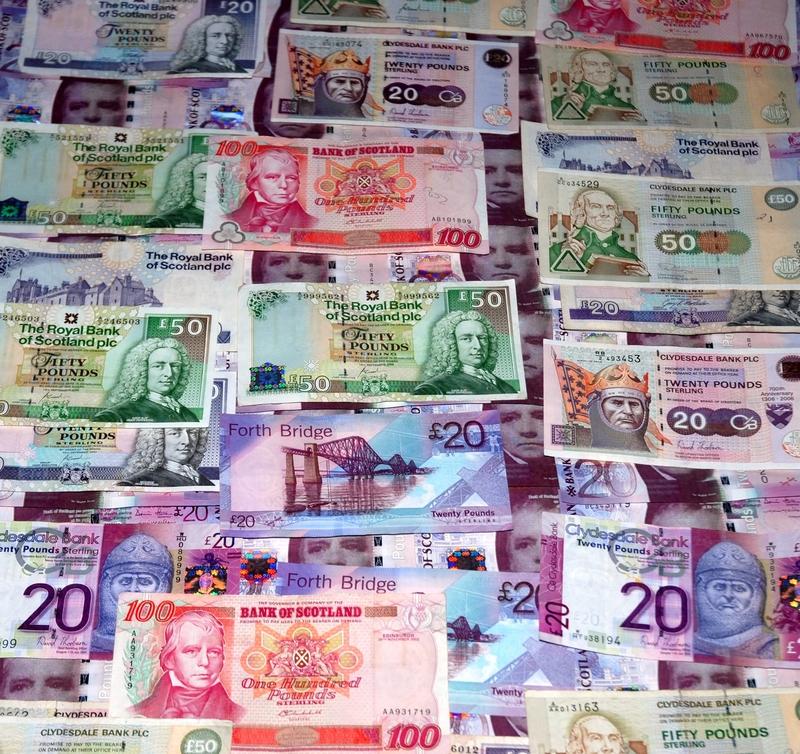 """Banknoten: """"Schottische Pfund"""""""