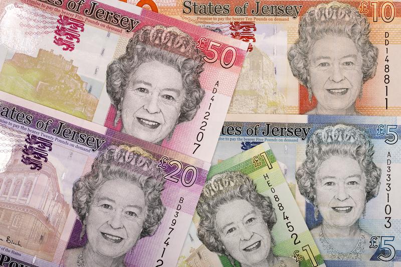 """Banknoten: """"Jersey-Pfund"""""""