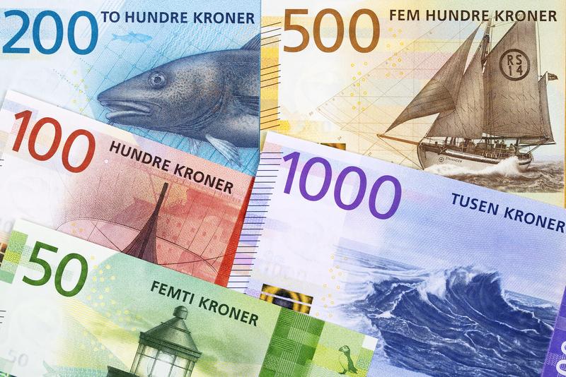 Banknoten: Norwegische Kronen