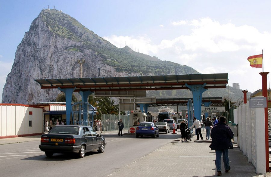 Bild: Grenzübergang von Spanien nach Gibraltar
