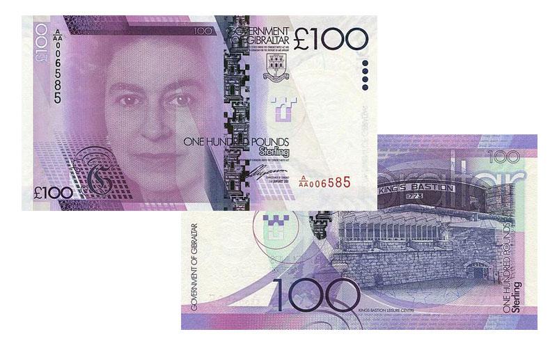 Banknote: 100 Gibraltar-Pfund
